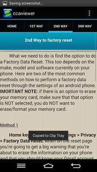 Factory Reset Android Phone apk screenshot