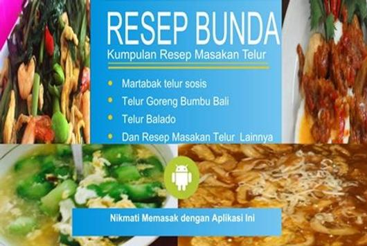 Resep Masakan Telur poster