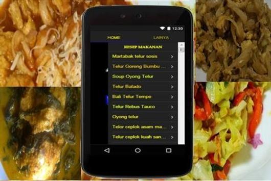 Resep Masakan Telur apk screenshot
