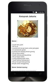 Resep Masakan Jakarta apk screenshot