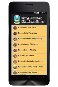 Resep Masakan Jawa Timur poster