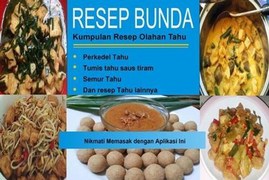 Resep Masakan Tahu poster