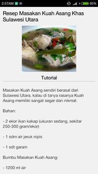 Resep Masakan Khas Sulawesi apk screenshot