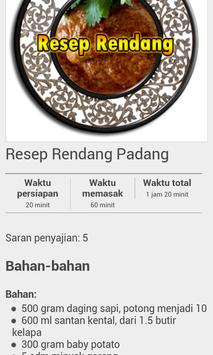 Resep Masakan Padang 2017 apk screenshot