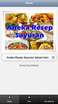 Aneka Resep Sayur Sehari-hari poster