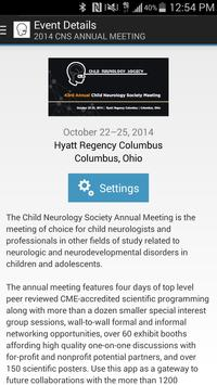 CNS Events poster