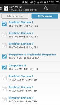 CNS Events apk screenshot