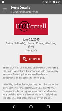 Cornell University Events poster