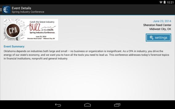 OSCPA Events and Meetings apk screenshot