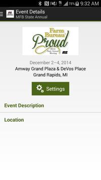 Michigan Farm Bureau - Events poster