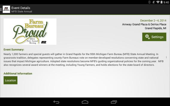 Michigan Farm Bureau - Events apk screenshot