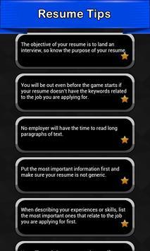 Resume Tips poster