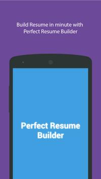 Perfect Resume Builder poster