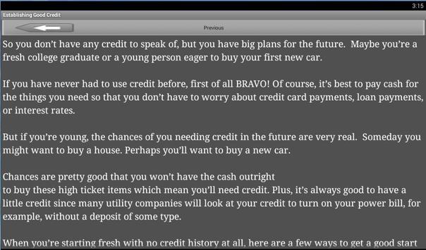 HOW TO REPAIRING YOUR CREDIT apk screenshot