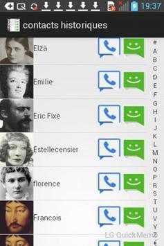 Contacts Historiques Free apk screenshot