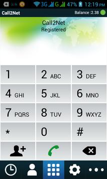 Call2Net apk screenshot