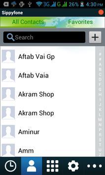 Sippy fone apk screenshot