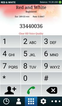 Red and White Mobile Dialer apk screenshot