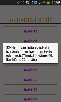 40 Hadis apk screenshot