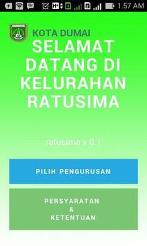 Kelurahan Ratusima Dumai App apk screenshot