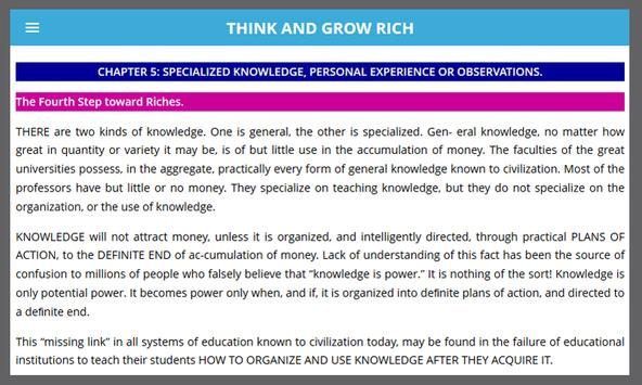 Think And Grow Rich apk screenshot