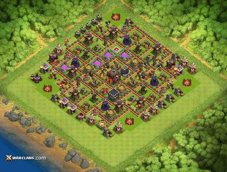 base maps coc th10 2017 apk screenshot