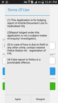 Lost Report - Hyderabad Police poster