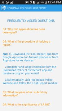 Lost Report - Hyderabad Police apk screenshot