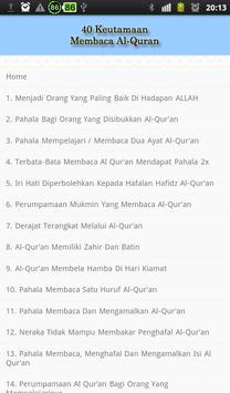40 Hadits Keutamaan Al-Qur'an apk screenshot