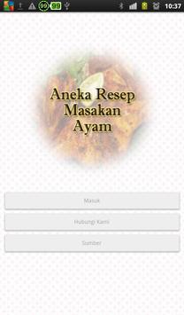 Resep Masakan Ayam Pilihan poster