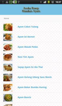 Resep Masakan Ayam Pilihan apk screenshot