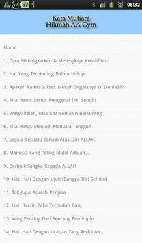 Kata Mutiara Hikmah AA Gym apk screenshot
