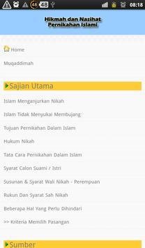 Hikmah & Nasihat Nikah Islami apk screenshot