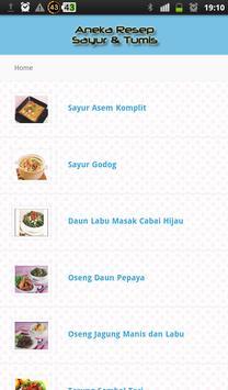 Aneka Resep Sayur dan Tumis apk screenshot