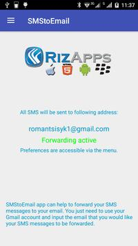 SMS to e-mail poster