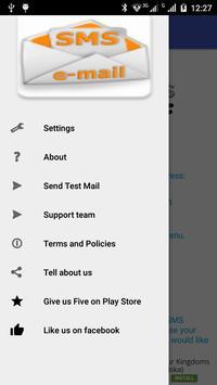 SMS to e-mail apk screenshot