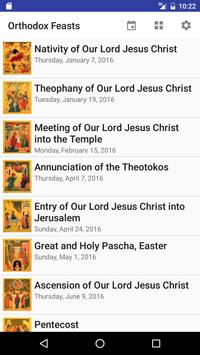 Main Feasts of Orthodox Church poster