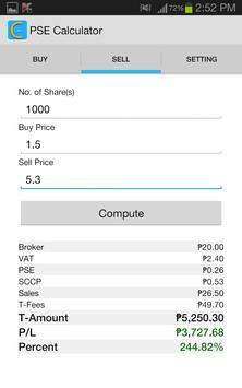 PSE Calculator apk screenshot
