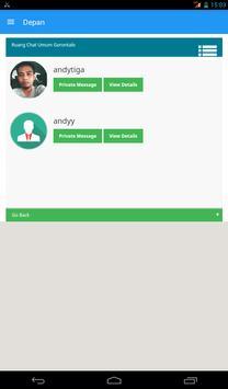 Chat Sosnaker Kota Gorontalo apk screenshot