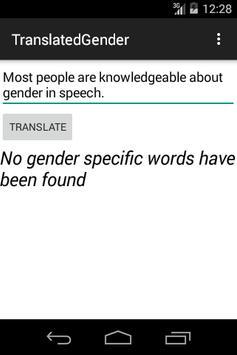 Translated Gender poster