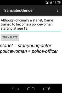 Translated Gender apk screenshot