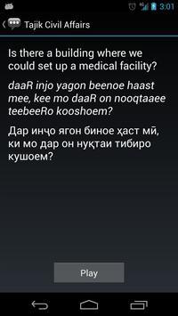 Tajik Civil Affairs Phrases apk screenshot