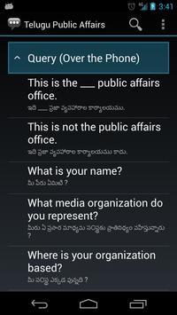 Telugu Public Affairs Phrases apk screenshot
