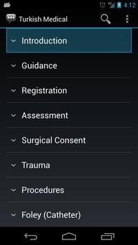 Turkish Medical Phrases apk screenshot