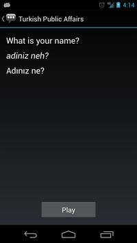 Turkish Public Affairs Phrases apk screenshot