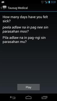 Tausug Medical Phrases apk screenshot