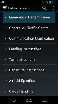 Turkmen Aircrew Phrases apk screenshot