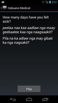 Cebuano Medical Phrases apk screenshot