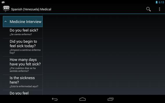Spanish (Venezuela) Medical apk screenshot