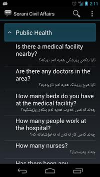 Sorani Civil Affairs Phrases apk screenshot